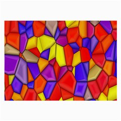 Mosaic Tiles Pattern Texture Large Glasses Cloth (2 Side)