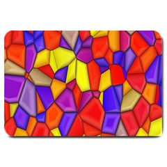 Mosaic Tiles Pattern Texture Large Doormat