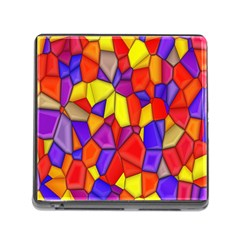 Mosaic Tiles Pattern Texture Memory Card Reader (square) by Sapixe