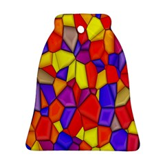 Mosaic Tiles Pattern Texture Bell Ornament (two Sides) by Sapixe