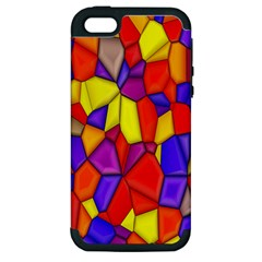 Mosaic Tiles Pattern Texture Apple Iphone 5 Hardshell Case (pc+silicone) by Sapixe