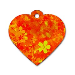 Background Reason Pattern Design Dog Tag Heart (two Sides)