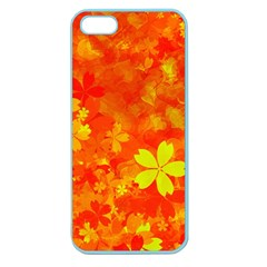 Background Reason Pattern Design Apple Seamless Iphone 5 Case (color)