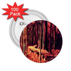 Forest Autumn Trees Trail Road 2 25  Buttons (100 Pack)