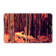 Forest Autumn Trees Trail Road Magnet (rectangular)