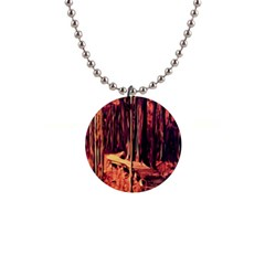Forest Autumn Trees Trail Road Button Necklaces