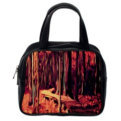 Forest Autumn Trees Trail Road Classic Handbags (one Side)