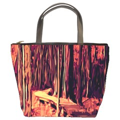 Forest Autumn Trees Trail Road Bucket Bags