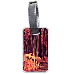 Forest Autumn Trees Trail Road Luggage Tags (one Side)
