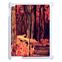 Forest Autumn Trees Trail Road Apple Ipad 2 Case (white)