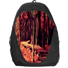 Forest Autumn Trees Trail Road Backpack Bag