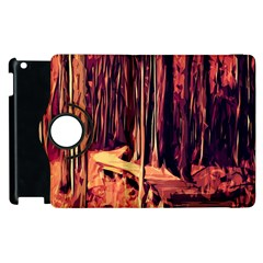 Forest Autumn Trees Trail Road Apple Ipad 3/4 Flip 360 Case by Sapixe