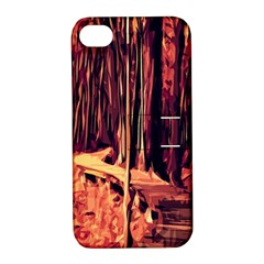 Forest Autumn Trees Trail Road Apple Iphone 4/4s Hardshell Case With Stand