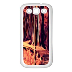 Forest Autumn Trees Trail Road Samsung Galaxy S3 Back Case (white)