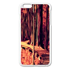 Forest Autumn Trees Trail Road Apple Iphone 6 Plus/6s Plus Enamel White Case