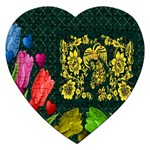 Background Reason Tulips Colors Jigsaw Puzzle (Heart) Front