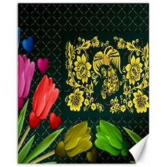 Background Reason Tulips Colors Canvas 16  X 20