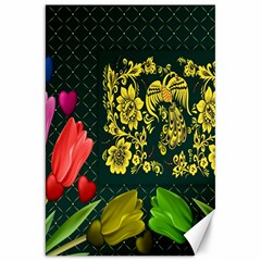 Background Reason Tulips Colors Canvas 20  X 30