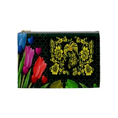 Background Reason Tulips Colors Cosmetic Bag (medium)