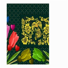 Background Reason Tulips Colors Small Garden Flag (two Sides)