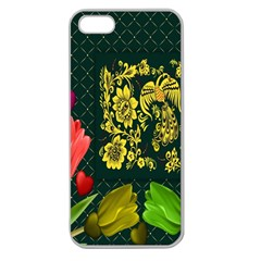 Background Reason Tulips Colors Apple Seamless Iphone 5 Case (clear)