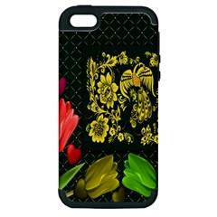 Background Reason Tulips Colors Apple Iphone 5 Hardshell Case (pc+silicone)