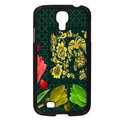 Background Reason Tulips Colors Samsung Galaxy S4 I9500/ I9505 Case (black)