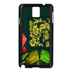 Background Reason Tulips Colors Samsung Galaxy Note 3 N9005 Case (black)