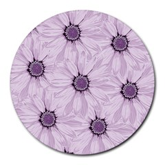 Background Desktop Flowers Lilac Round Mousepads
