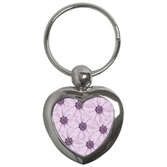 Background Desktop Flowers Lilac Key Chains (heart)