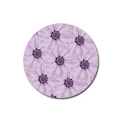 Background Desktop Flowers Lilac Rubber Round Coaster (4 Pack)
