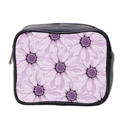 Background Desktop Flowers Lilac Mini Toiletries Bag 2 Side
