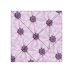 Background Desktop Flowers Lilac Acrylic Tangram Puzzle (4  X 4 )