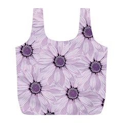 Background Desktop Flowers Lilac Full Print Recycle Bags (l)