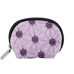 Background Desktop Flowers Lilac Accessory Pouches (small)  by Sapixe