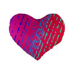Background Desktop Mosaic Raspberry Standard 16  Premium Flano Heart Shape Cushions