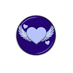 Background Texture Heart Wings Hat Clip Ball Marker (10 Pack)
