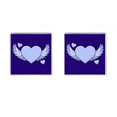 Background Texture Heart Wings Cufflinks (square)