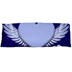 Background Texture Heart Wings Body Pillow Case Dakimakura (two Sides)