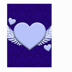 Background Texture Heart Wings Large Garden Flag (two Sides)