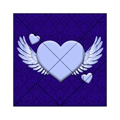Background Texture Heart Wings Acrylic Tangram Puzzle (6  X 6 ) by Sapixe