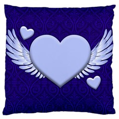Background Texture Heart Wings Large Cushion Case (two Sides)