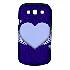 Background Texture Heart Wings Samsung Galaxy S Iii Classic Hardshell Case (pc+silicone)