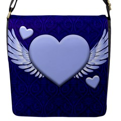 Background Texture Heart Wings Flap Messenger Bag (s) by Sapixe
