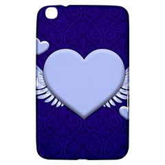 Background Texture Heart Wings Samsung Galaxy Tab 3 (8 ) T3100 Hardshell Case