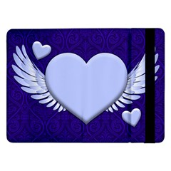 Background Texture Heart Wings Samsung Galaxy Tab Pro 12 2  Flip Case