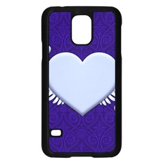 Background Texture Heart Wings Samsung Galaxy S5 Case (black)
