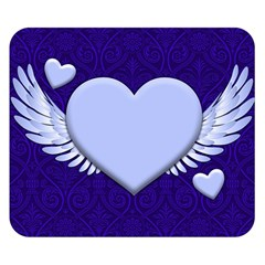 Background Texture Heart Wings Double Sided Flano Blanket (small)