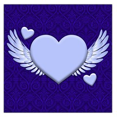 Background Texture Heart Wings Large Satin Scarf (square)