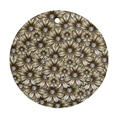 Background Flowers Ornament (round)